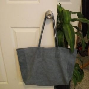 Saks Fifth Avenue Large faux suede tote